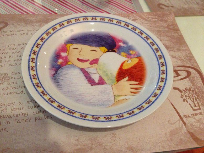 Artful plate at Tea Tree Café