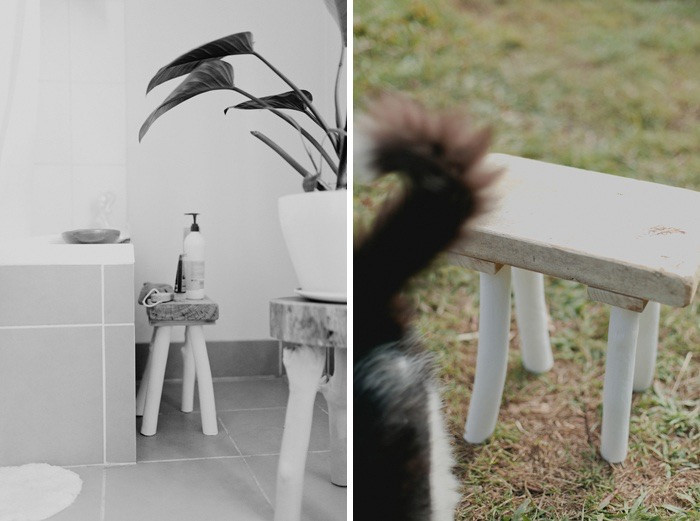 australian timber stool