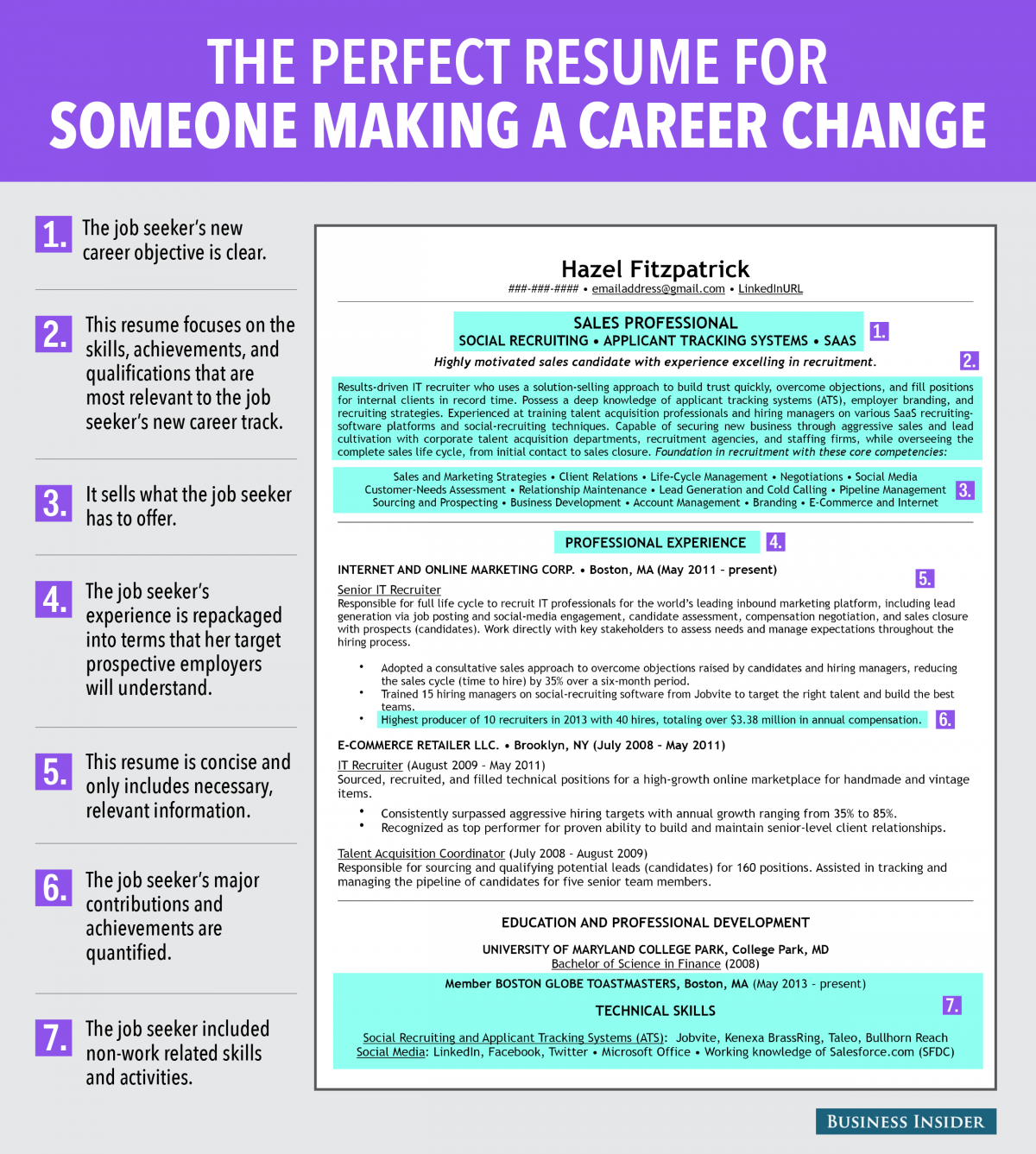 how to write career change resume