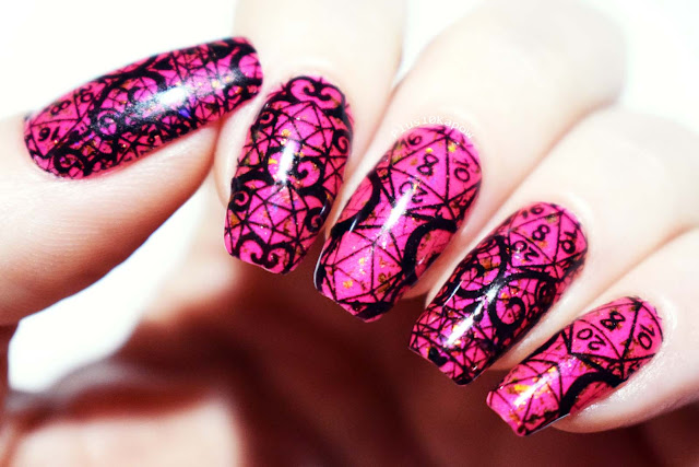 Espionage Cosmetics D20 Lace nerdy nail wraps