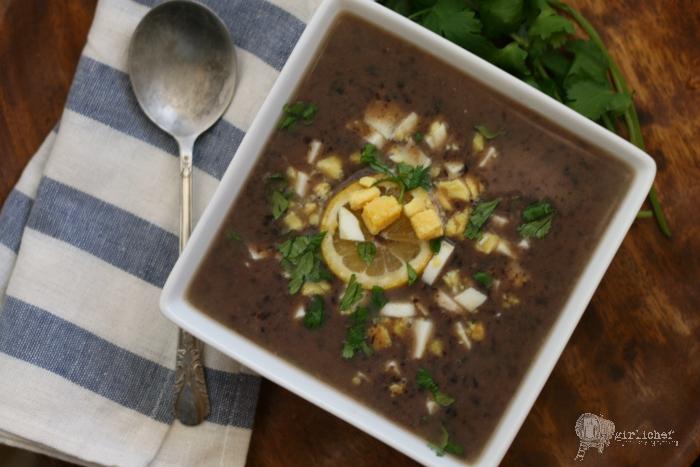 Crockpot Black Bean Soup