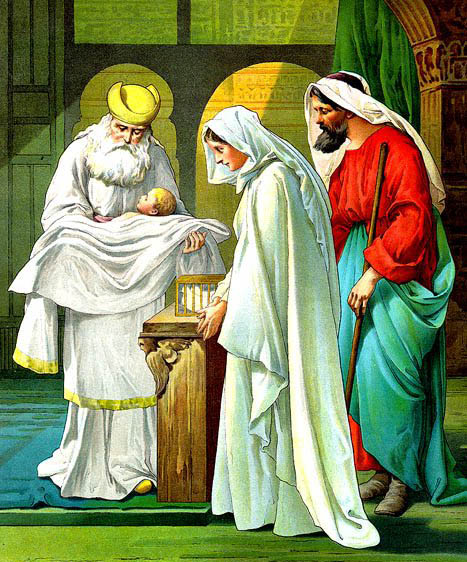 Jesús presentado en el templo