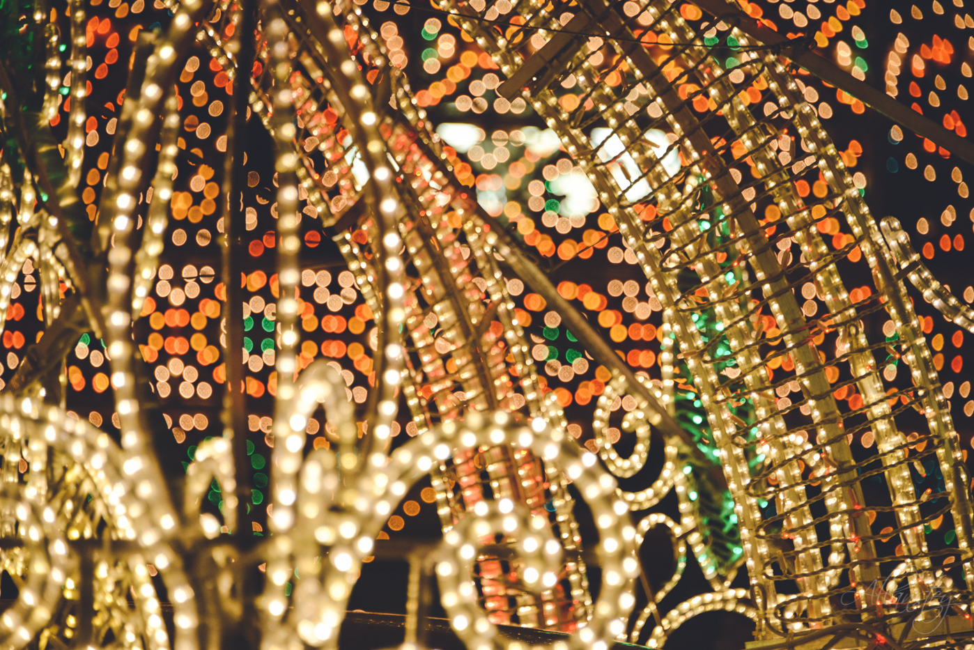 Christmas lights decorations bokeh