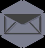 mail hexagon icon