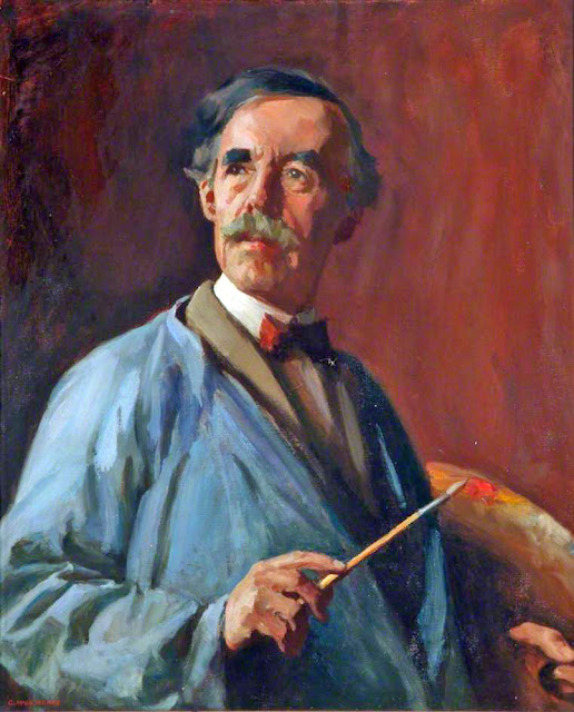 George Hall Neale, Self Portrait, Portraits of Painters, George Hall, Fine arts, Portraits of painters blog, Paintings of George Hall, Painter  George Hall