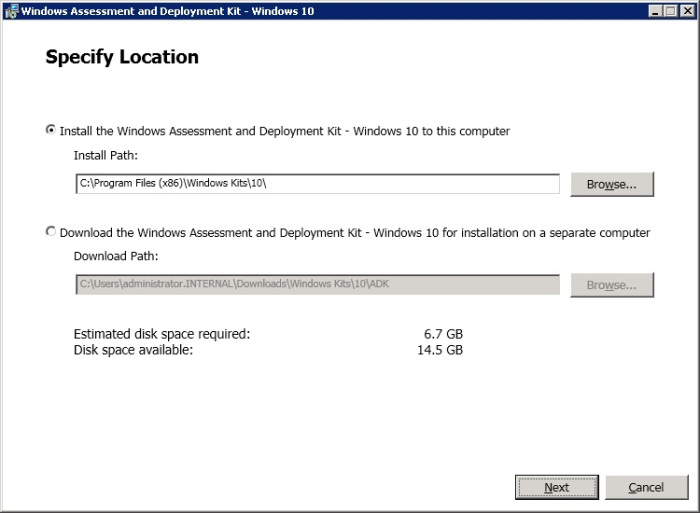 SCCM 2012: How to Install Windows ADK 10 Step by Step