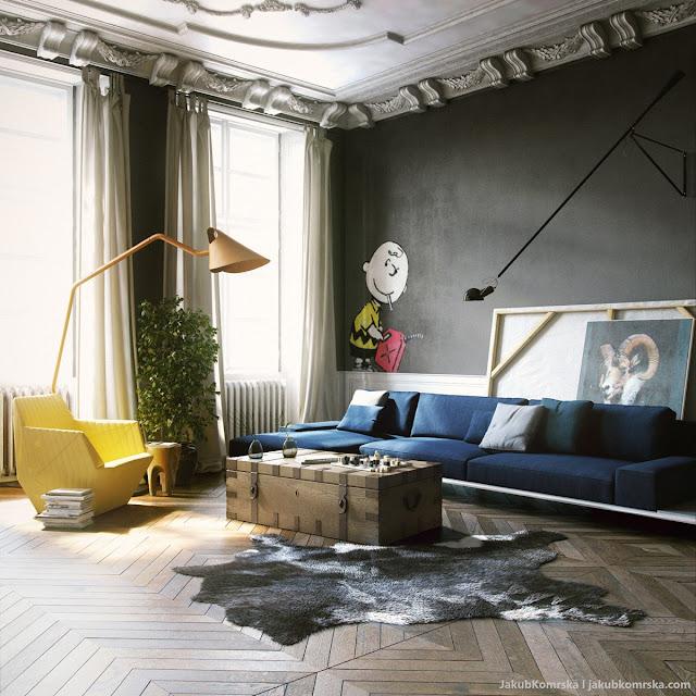 Desain model ruang tamu klasik