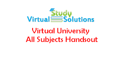 Download Virtual University All Subjects Handsout