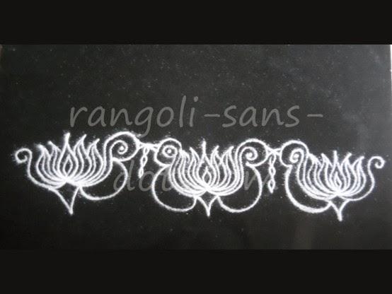 border kolam rangoli border side rangoli designs muggulu borders