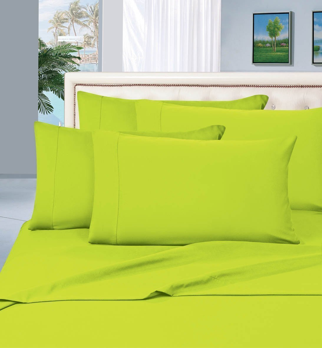 Merveilleux 4 Piece Lime Green Bed Sheet Set