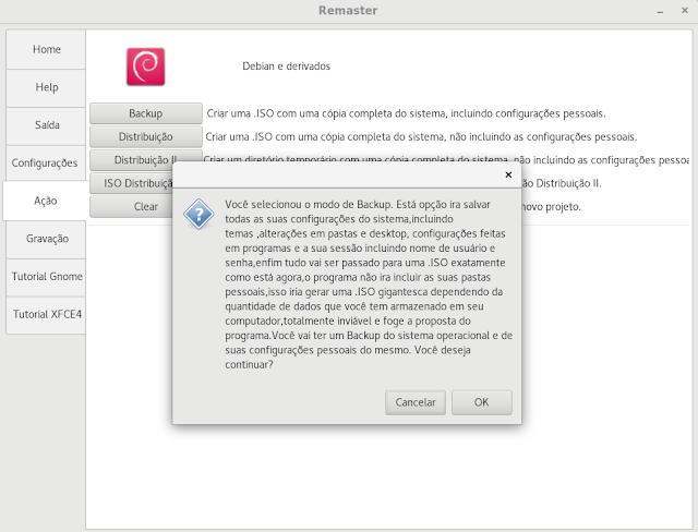 Ferramentas Linux 1 - Backup com Remaster GTK - Dicas Linux e Windows