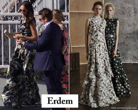 Meghan Markle wore Erdem Pre fall 2017 bird print maxi dress