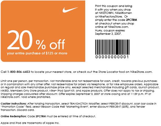 Nike Shoes Coupon Code
