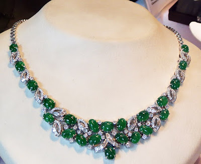 stunning jade diamond necklace
