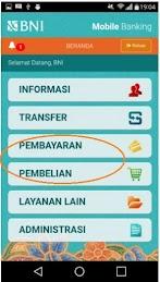 Cara Isi Ulang e-Money TapCash BNI Melalui Aplikasi Mobile Banking BNI