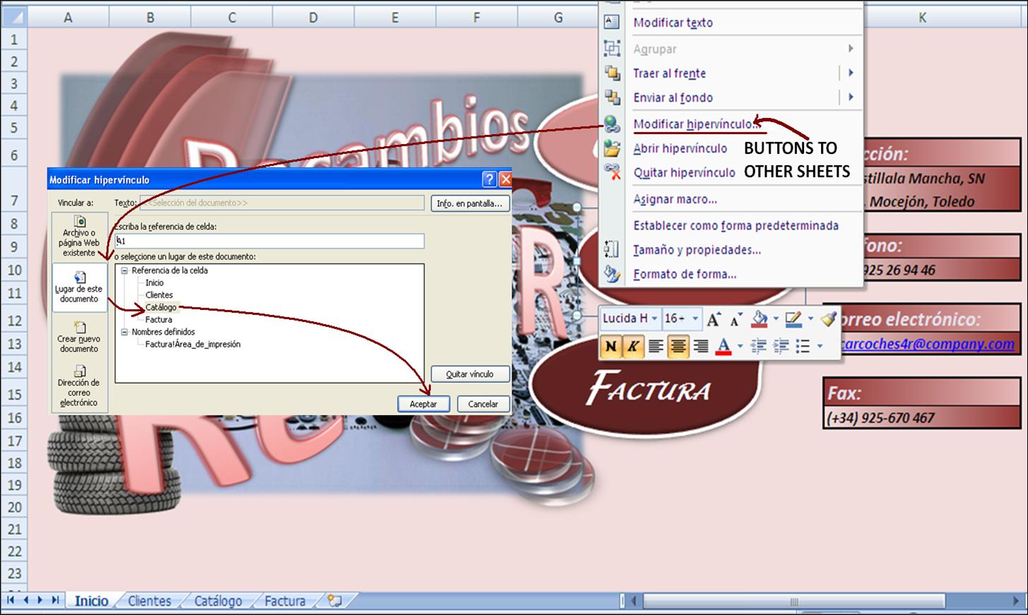 Carmen's Computing Blog: Excel: automatic invoice