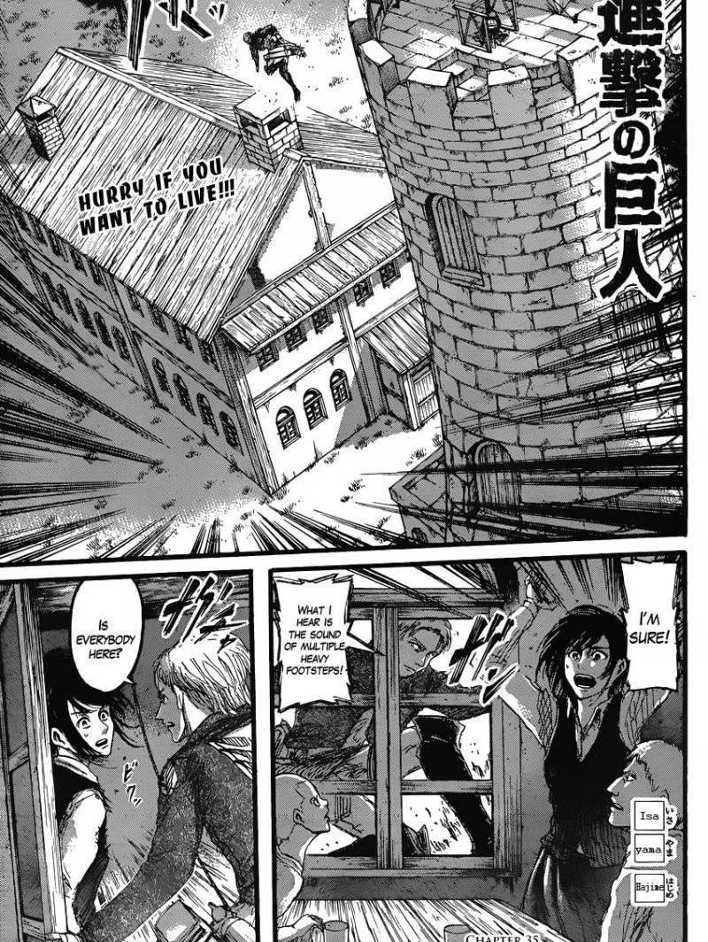 Shingeki no Kyojin Ch 35: The Boys Brightly Shining Eyes