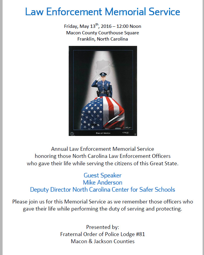 2016 Law Enforcement Memorial Day