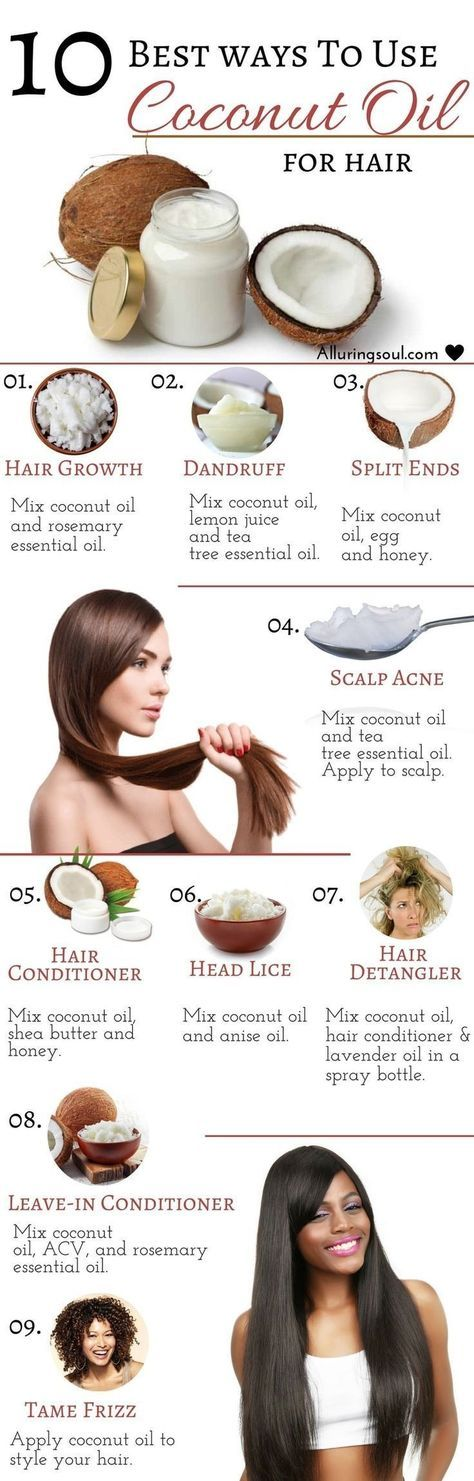 10 Best Ways To Use Coconut Oil For Hair