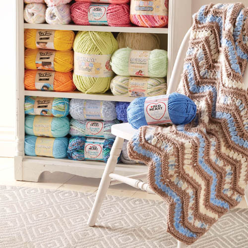 Ridged Chevron Blanket - Free Pattern
