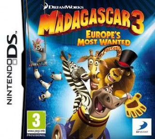 Madagascar 3 Europes Most Wanted, 3DS, Español, Mega, Mediafire