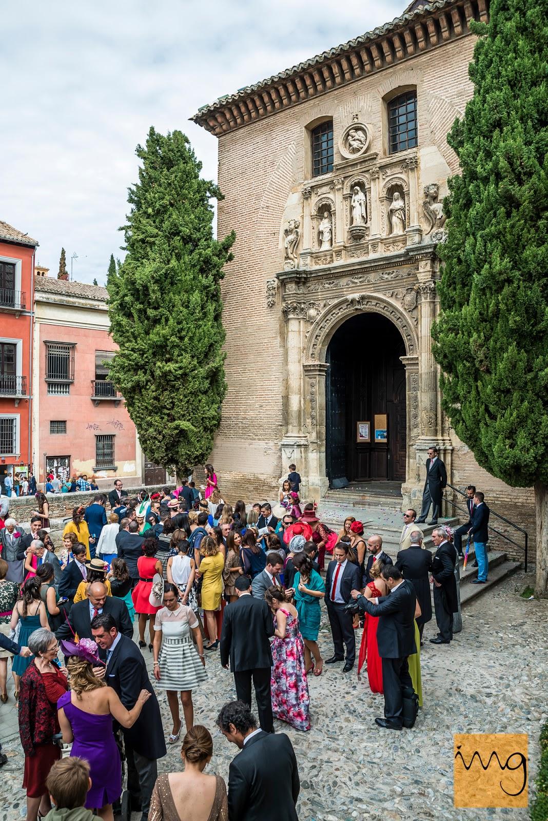Fotografía de boda en Granada, Iglesia de Santa Ana