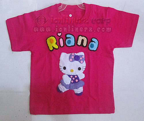 Kaos / Baju Flanel Anak Karakter Kartun Hello Kitty