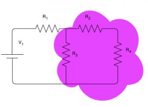 Description: diviseur de tension - Thevenin équivalente requise
