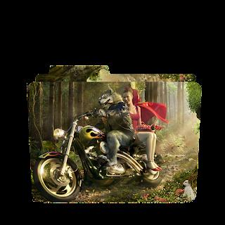 Wolf Riding Bike Folder Icon