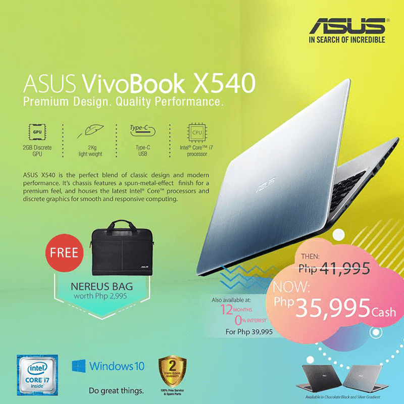 Asus VivoBook X540UP sale