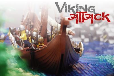 Viking Attack diorama