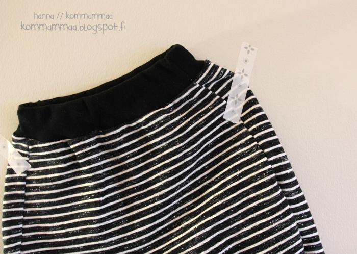 nosh baggy housut collegehousut pippuricollege musta valkoinen
