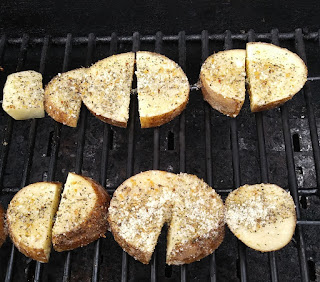 Grilled potato wedges recipe