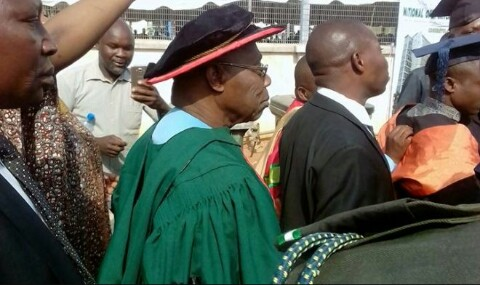 Former Pres. Obasanjo celebrates with friends in Abuja as he graduates from NOUN