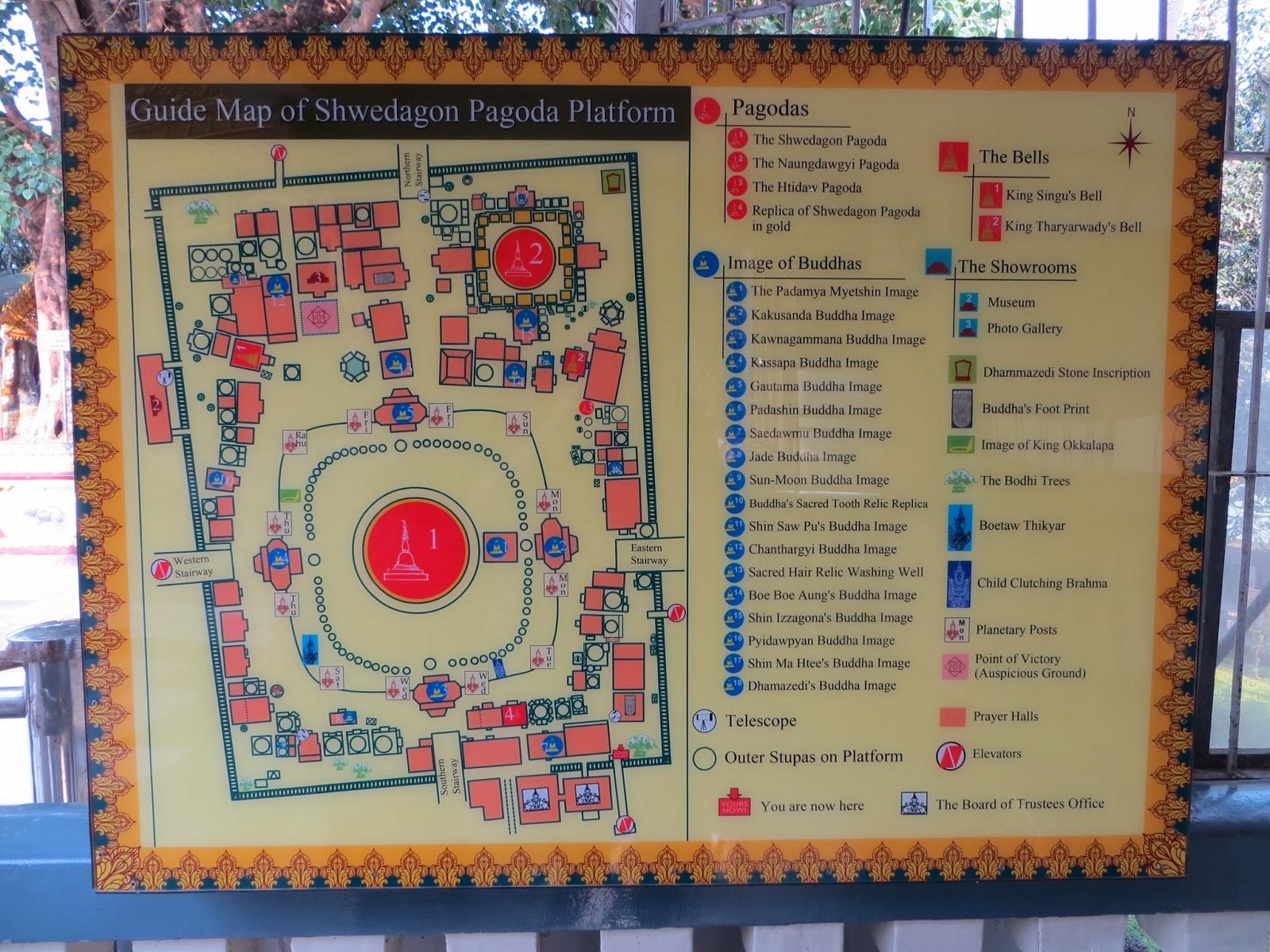 Tanjan Matkamittari Swedagon Pagoda Kultaa Ja Timantteja