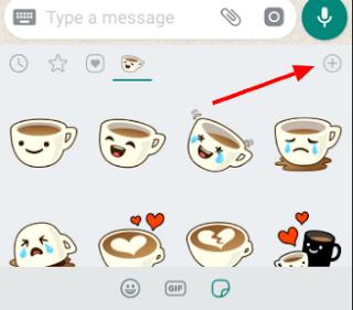 WhatsApp App Stickers Add Button