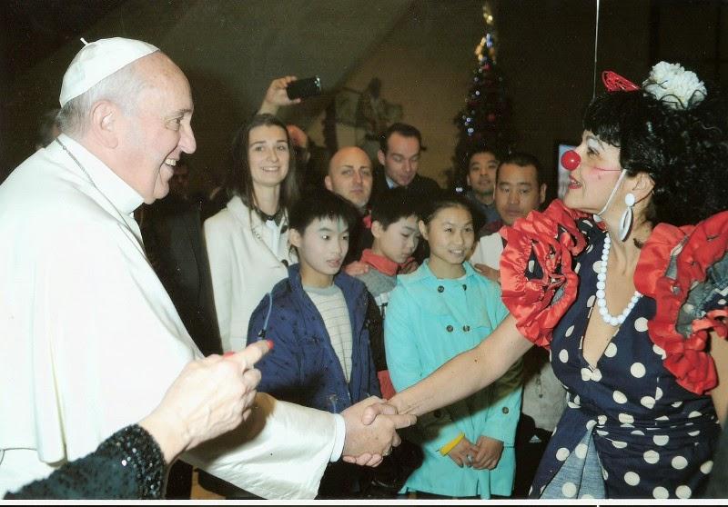 clown, Angosta di Mente, El Papa Francisco, circo, teatroclown