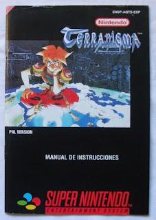 Terranigma - Manual delante
