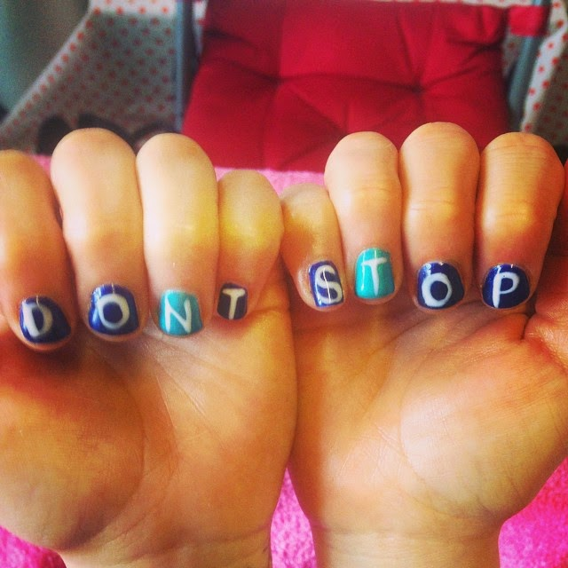 Brighton Marathon 2015 nail art - Don't Stop