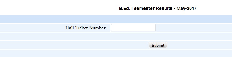 Sri Krishna Devaraya University B.Ed 1st Sem Results 2017