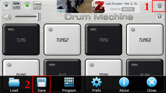 save kendang drum machine