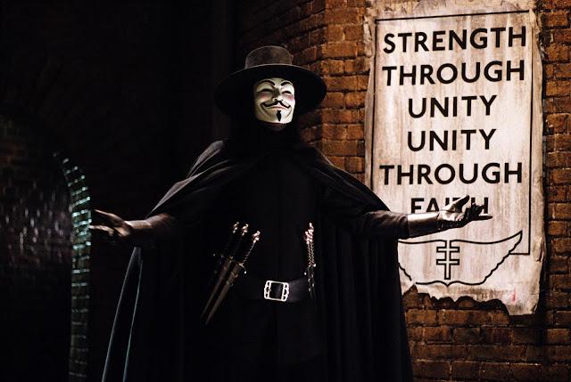 Escena de la película V de Vendetta