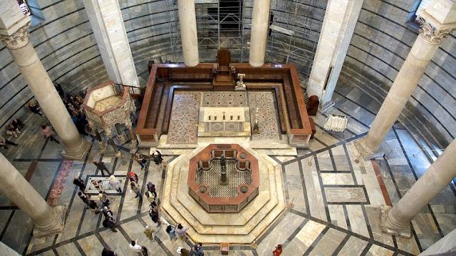 História do Batistério de Pisa