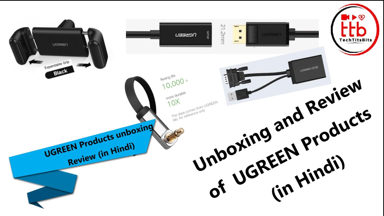 c8d0c4f8635 Ugreen unboxing HDMI Cable! Car Mobile Holder!VGA to HDMI