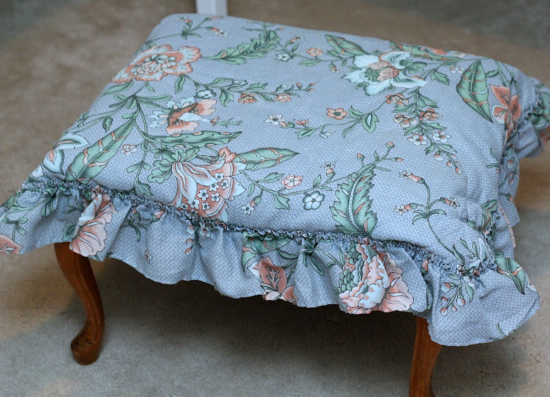 green turtle footstool cover