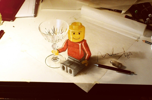 04-Lego-Man-Muhammad-Ejleh-2D-Like-3D-Drawings