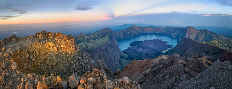 Summit of Mount Rinjani 3726 m
