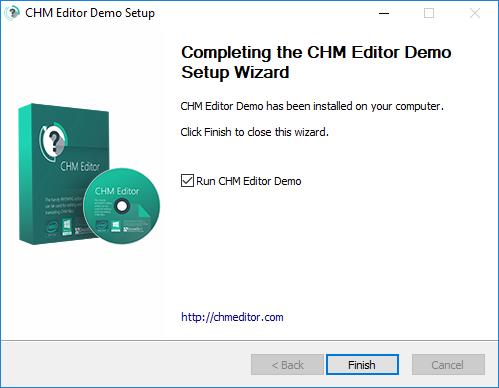 Hướng dẫn cài đặt CHM Editor 3.1.0 4