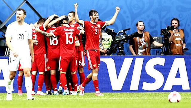 Rússia começou a Copa das Confederações com vitória