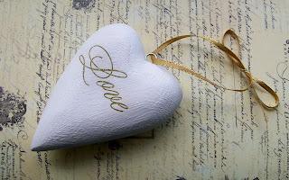 Shape of love white heart shape wallpaper
